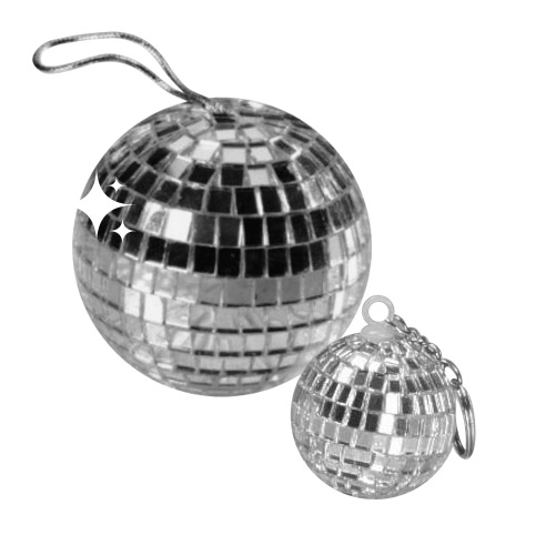 Disco Ball Pendant dark-silver