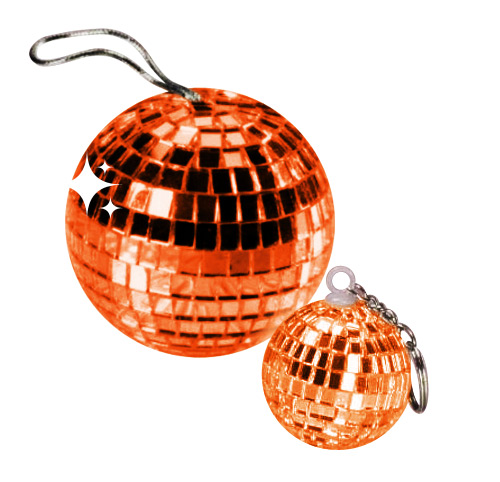 Disco Ball Pendant orange