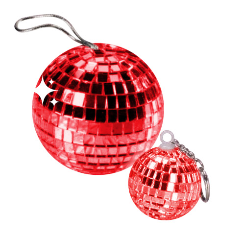 Disco Ball Pendant red