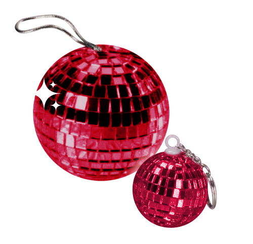 Disco Ball Pendant burgundy