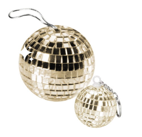 Disco Ball Pendant gold