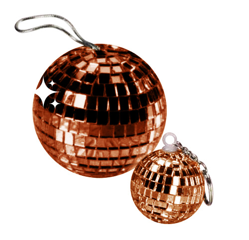 Disco Ball Pendant brown