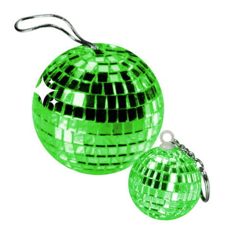 Disco Ball Pendant green