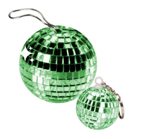 Disco Ball Pendant wood green