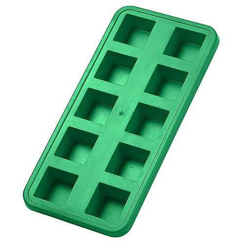 Ice Cube Form Squares green