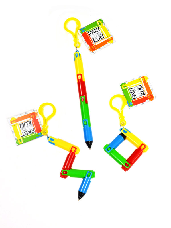 Foldable Ballpen multicoloured