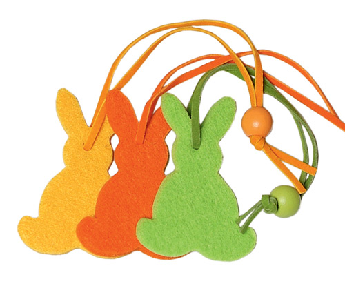 *Felt decoration bunny small in orange