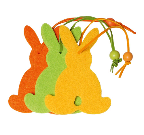 *Felt decoration bunny big in yellow