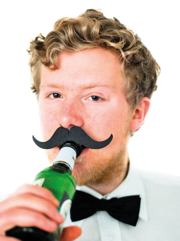 Bottle Topper Mustache Allrounder black
