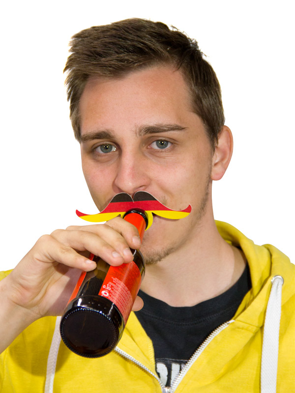 Bottle Topper Mustache Germany