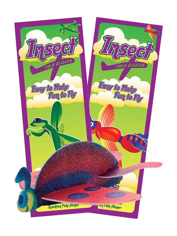 Flying Insect Glider six assorted designs