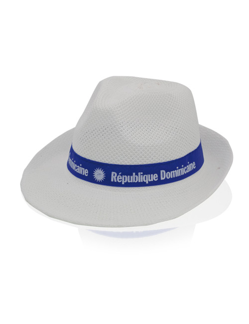 gangster hat fabric white