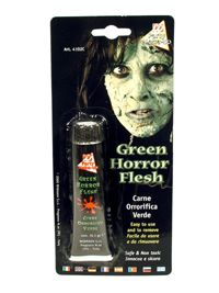 Green horror make-up