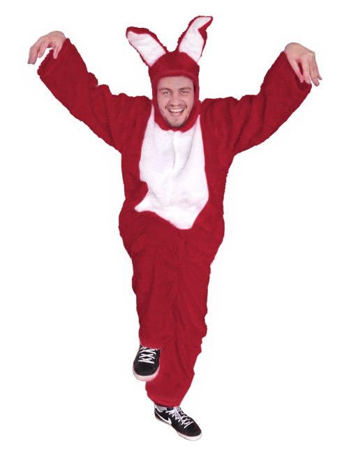 Bunny Costume dark-red