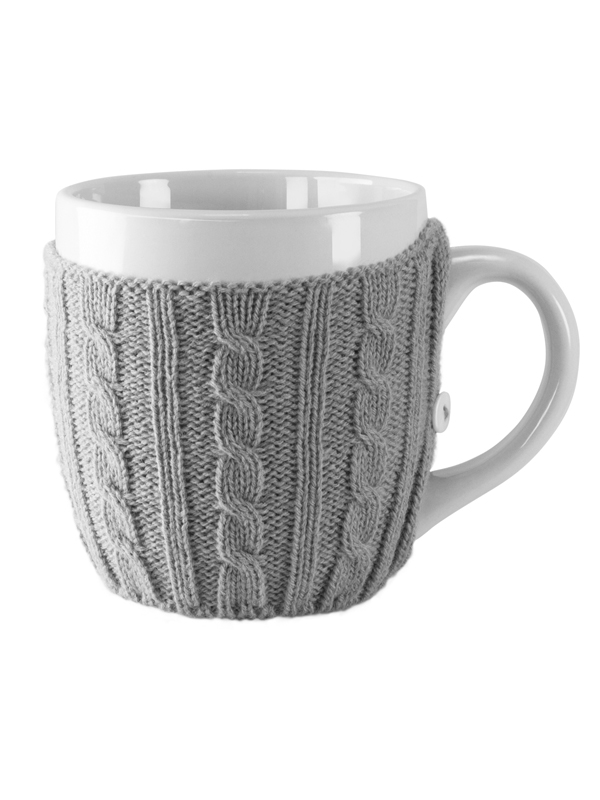 Sweater Cup white-grey