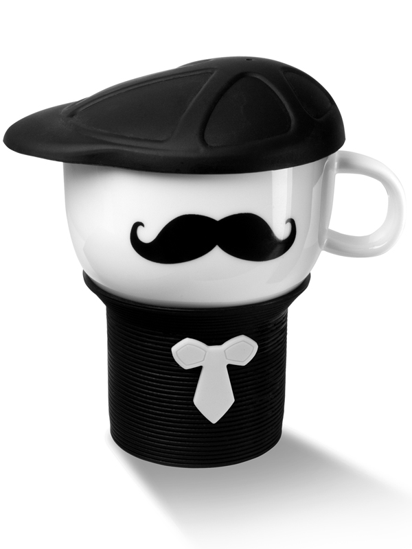 Detective Mug with Cap black-white