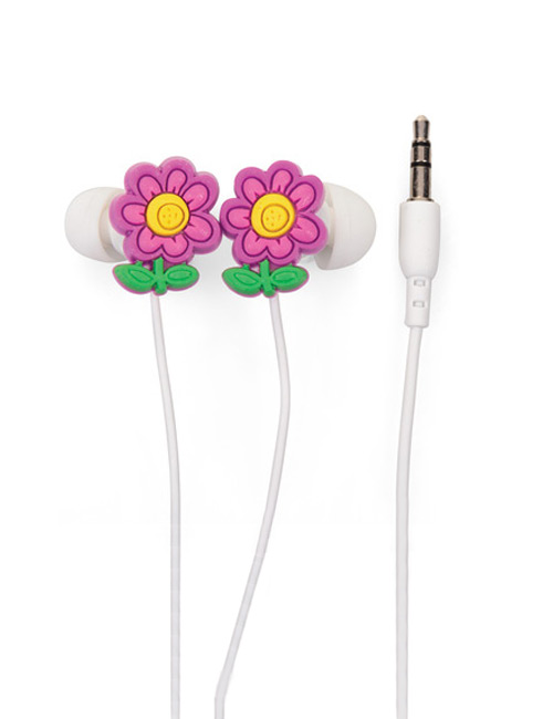 Earphones Flower pink