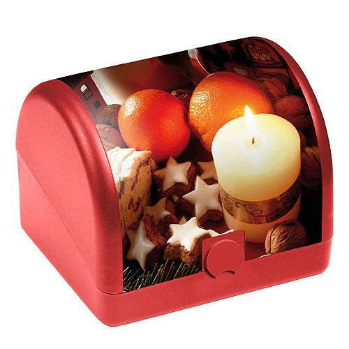 Gingerbread Box Storage Box Food Storage Box red