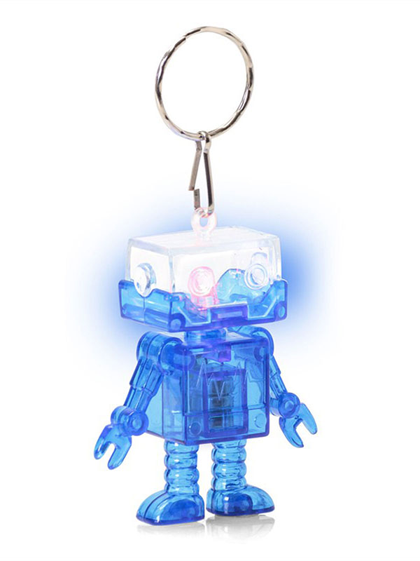 Flashing Robot Keychain