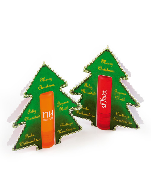Lip salve with Christmas Tree greeting card