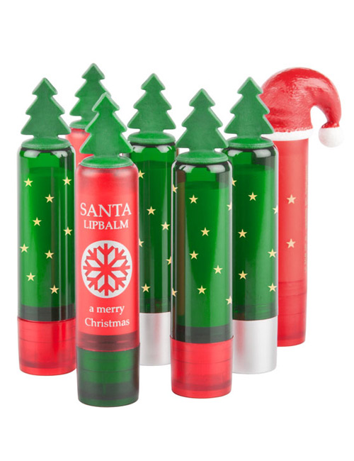 Lip salve with Christmas Tree