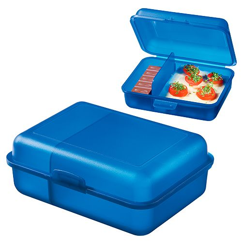 Lunchbox Storage Box with Divider blue