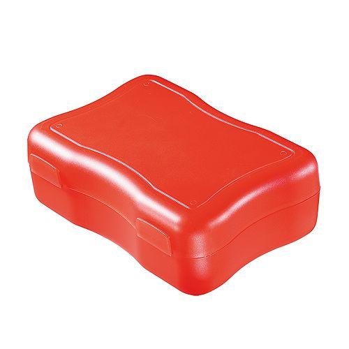 Lunchbox Storage Box Wave Form medium red