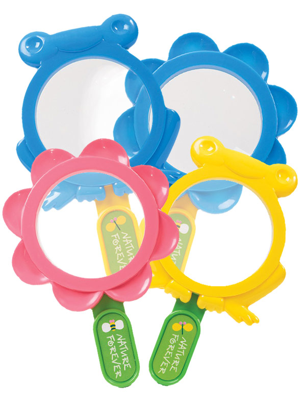Flower and Frog Magnifying Lens fourfold assorted