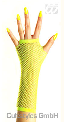 Meshed gloves neon yellow