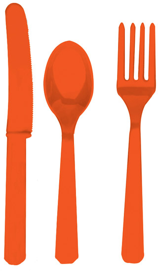 Orange Cutlery