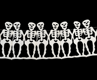 Paper Garland Skeleton