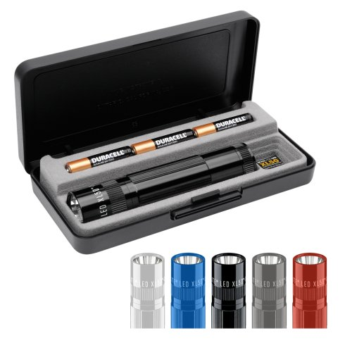 Premium LED Flashlight Gift Box black