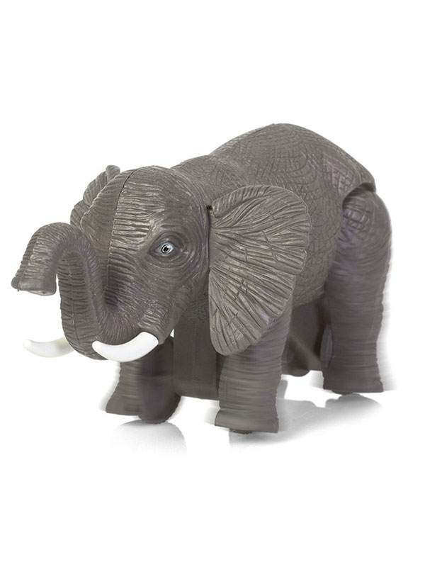 Running Elephant Wind-up Toy grey