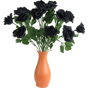 Roses Black 12 pieces