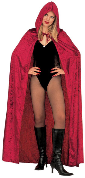 Velvet Cape red 150cm