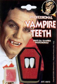 Professional vampire teeth