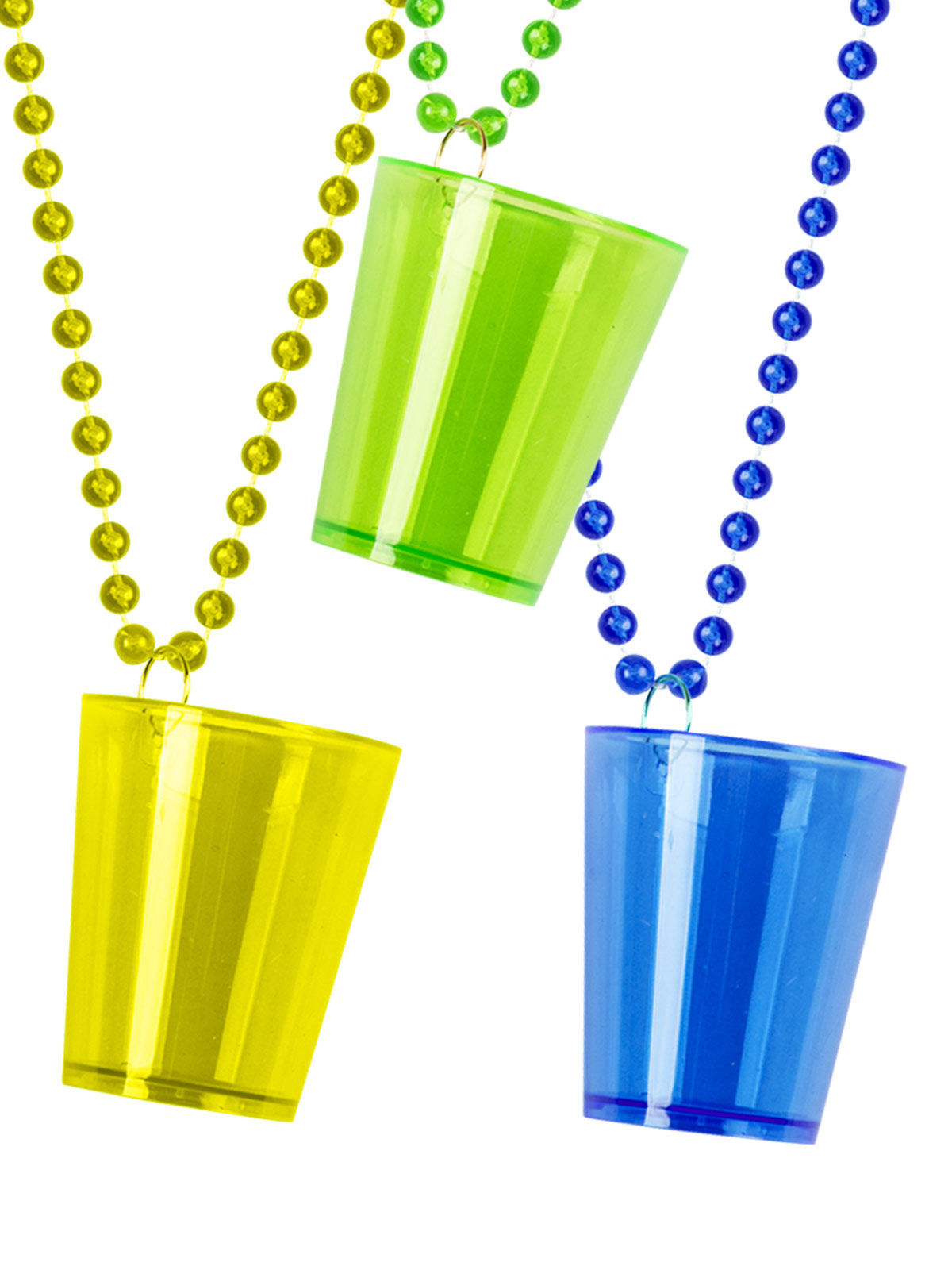 Shot Glass on Beads Party Accessory multicoloured