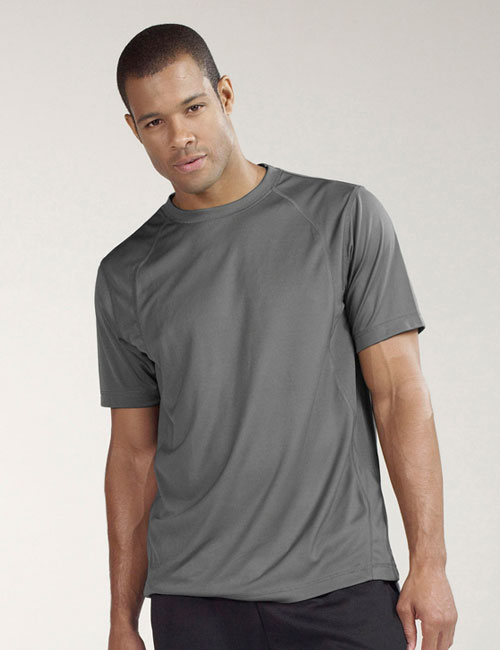 *Short Sleeve Interlock Pieced T-Shirt