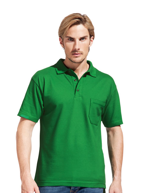 * Men's Heavy Polo Pocket