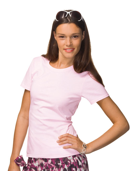 *Ladies Tagless Crew-Neck T-Shirt