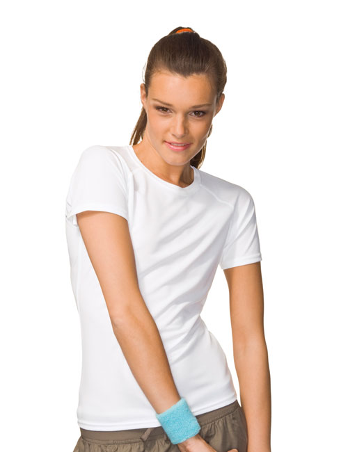 *Ladies Tagless Crew Neck Sports T-shirt