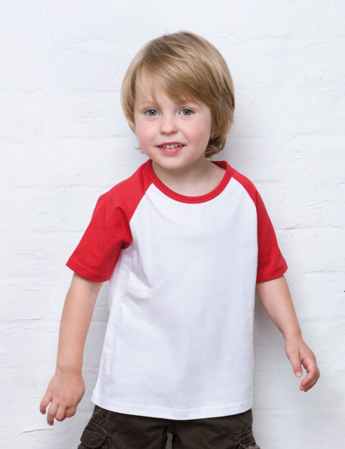 *Boys Short Sleeve Baseball T-Shirt