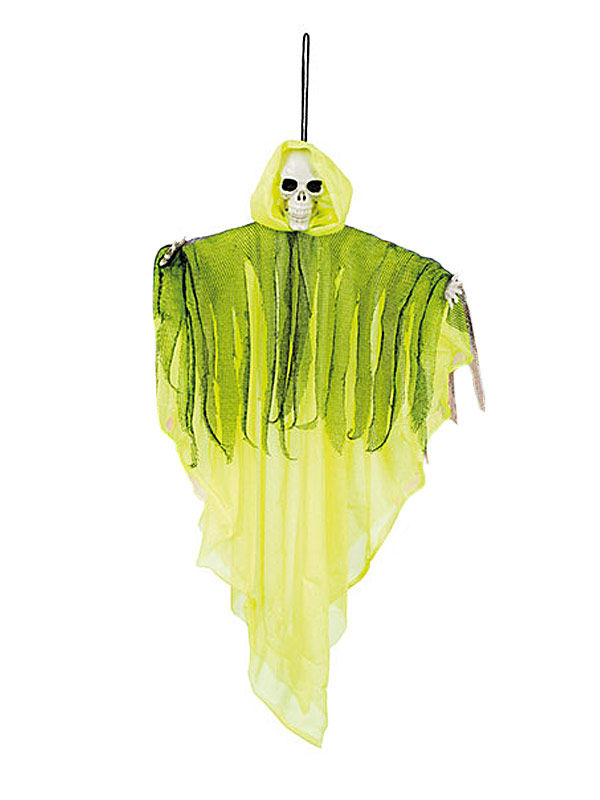Creepy Halloween Hanging Deco Skeleton Ghost green 50cm