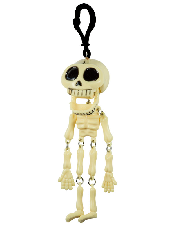 Skeleton Keychain With Rattling Teeth