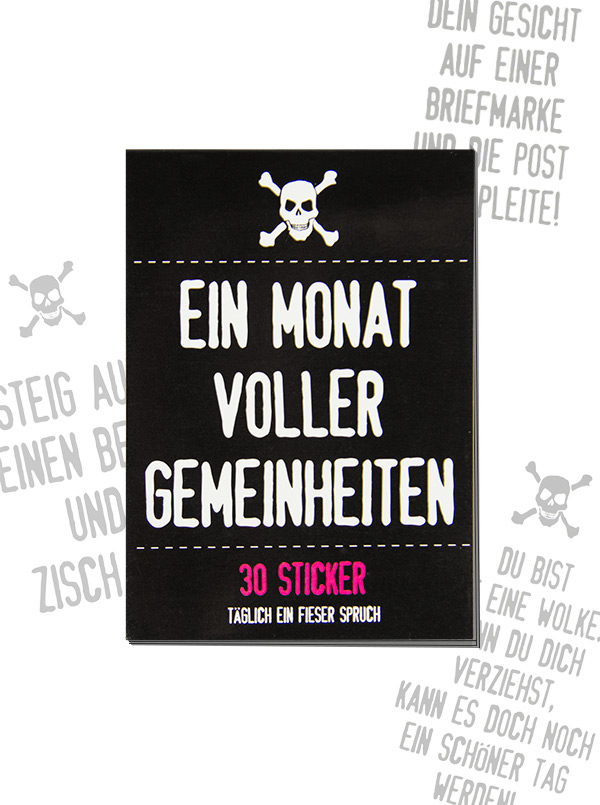 30 beastly stickers black-white-pink