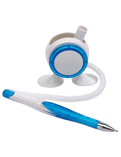 "pen holder ""Leggy"" white/blue"