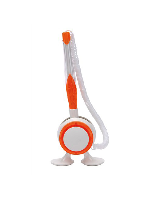 "pen holder ""Leggy"" white/orange"