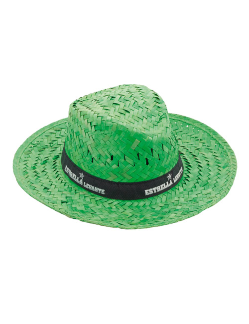 straw hat green
