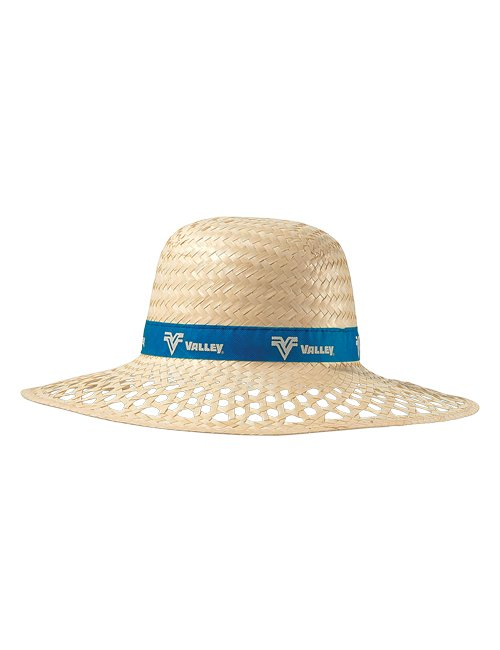 Straw Hat with Ribbon, round