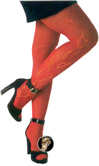 Tights with Flames